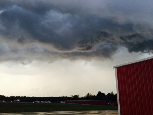 Weather over Padgham Field in Allegan, Michigan